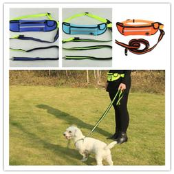 Hands Free Dog Leash Waist Belt Pouch Retractable Lead Walki
