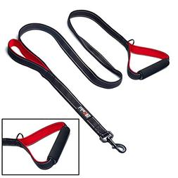 tobeDRI Heavy Duty Dog Leash - 2 Padded Handles, 6 feet Long