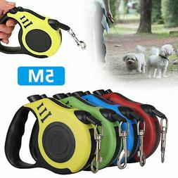 Heavy Duty Retractable Dog Leash 16ft Walking Lead for S/M P