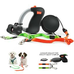 Heavy Duty Retractable Dog Leash Large 132lbs 16ft Nylon Tap