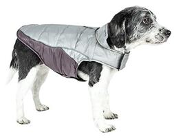Pet Life Helios Hurricane-Waded Plush 3M Reflective Dog Coat