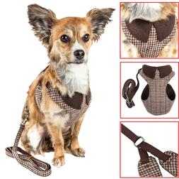 Pet Life 'Houndsome' 2-in-1 Fashion Dog Harness-Leash with D