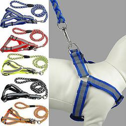 Humane Adjustable Reflective Nylon Dog Puppy Walking Leash R