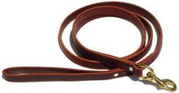 Signature K9 Standard Leather Leash, 6-Feet x 3/4-Inch, Burg