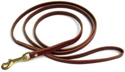 Signature K9 Standard Leather Leash, 6-Feet x 1/2-Inch, Burg