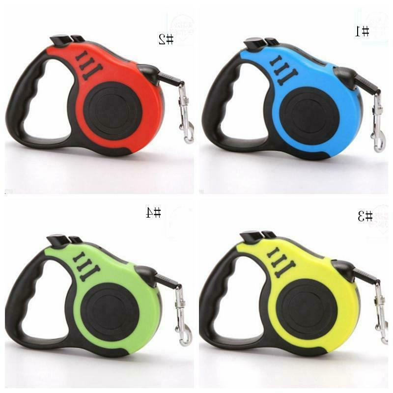 16.5ft Retractable Leash Pet Collar Walking Lead