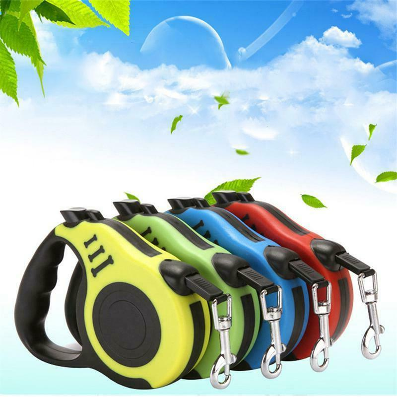 16.5ft Retractable Dog Leash Pet Collar Automatic Walking Lead