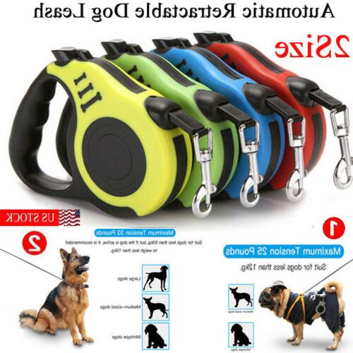 16ft automatic retractable dog leash pet collar
