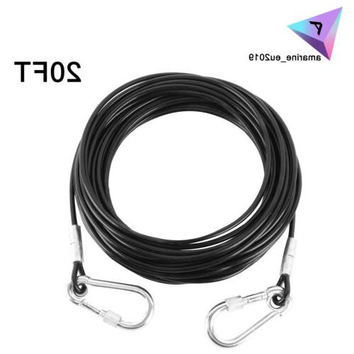 20ft long large dog tie out cable