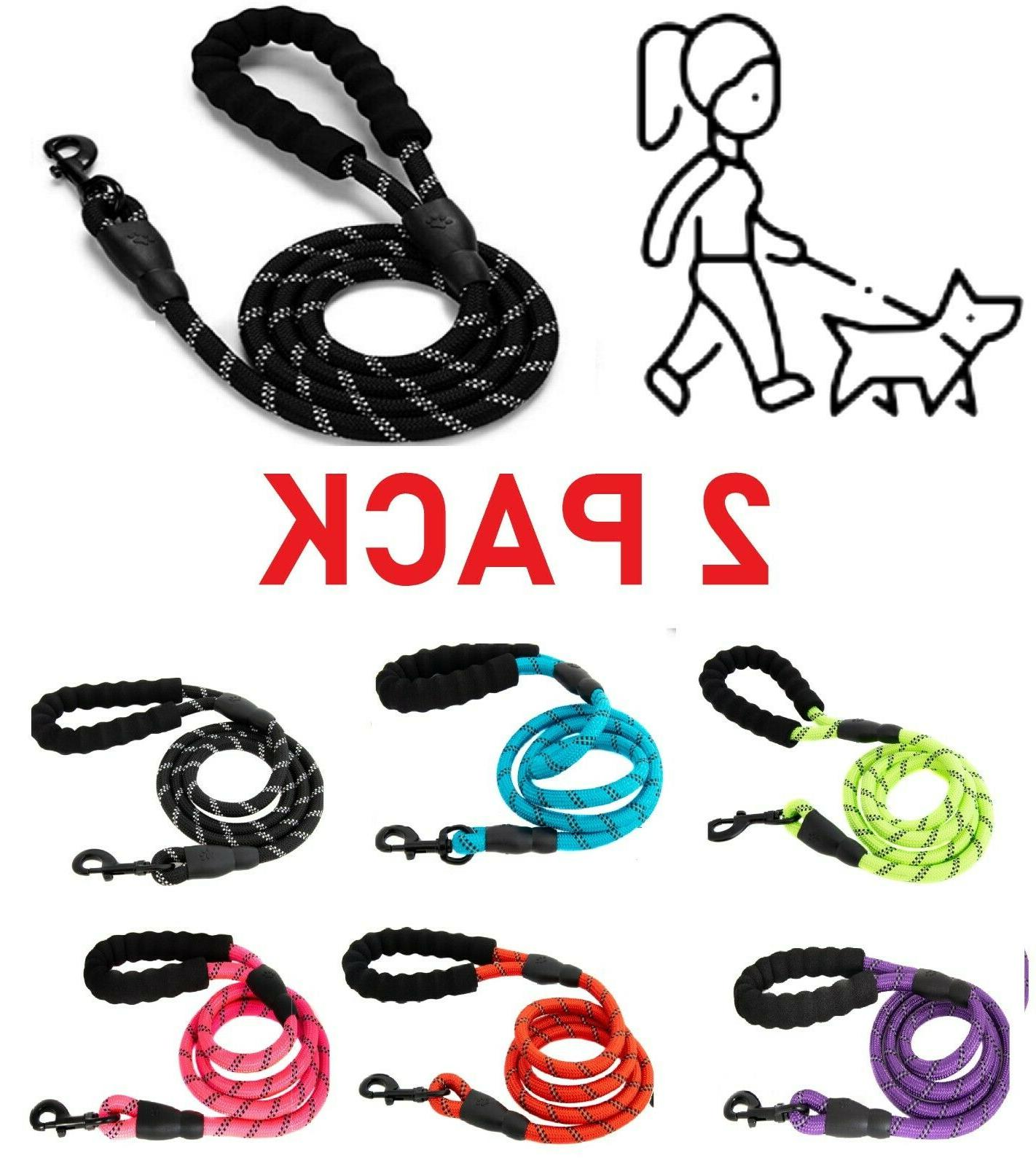 2pack 5ft service dog rope leash lead