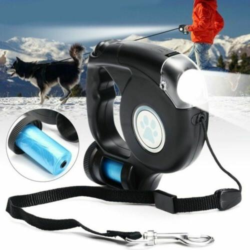 9 LED Training Leashes With Garbage Bag