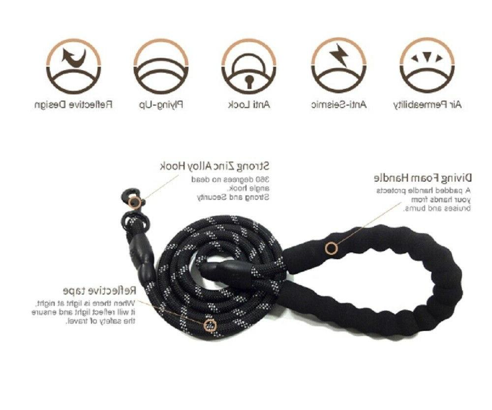 5 FT Dog Rope Leash Lead Training Padded Puppy