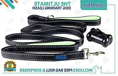 GOMA Industries DOG LEASH Perfect Walking Lead Double Handle