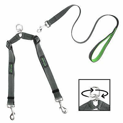 Mighty Paw Double Dog Leash, Two Dog Adjustable Length Dog L