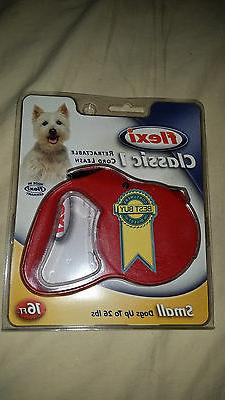 new small dog retractable leash 26 lbs