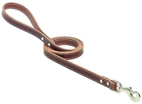 Weaver Leather Western Edge Harness Leather Dog Leash, 3/4""