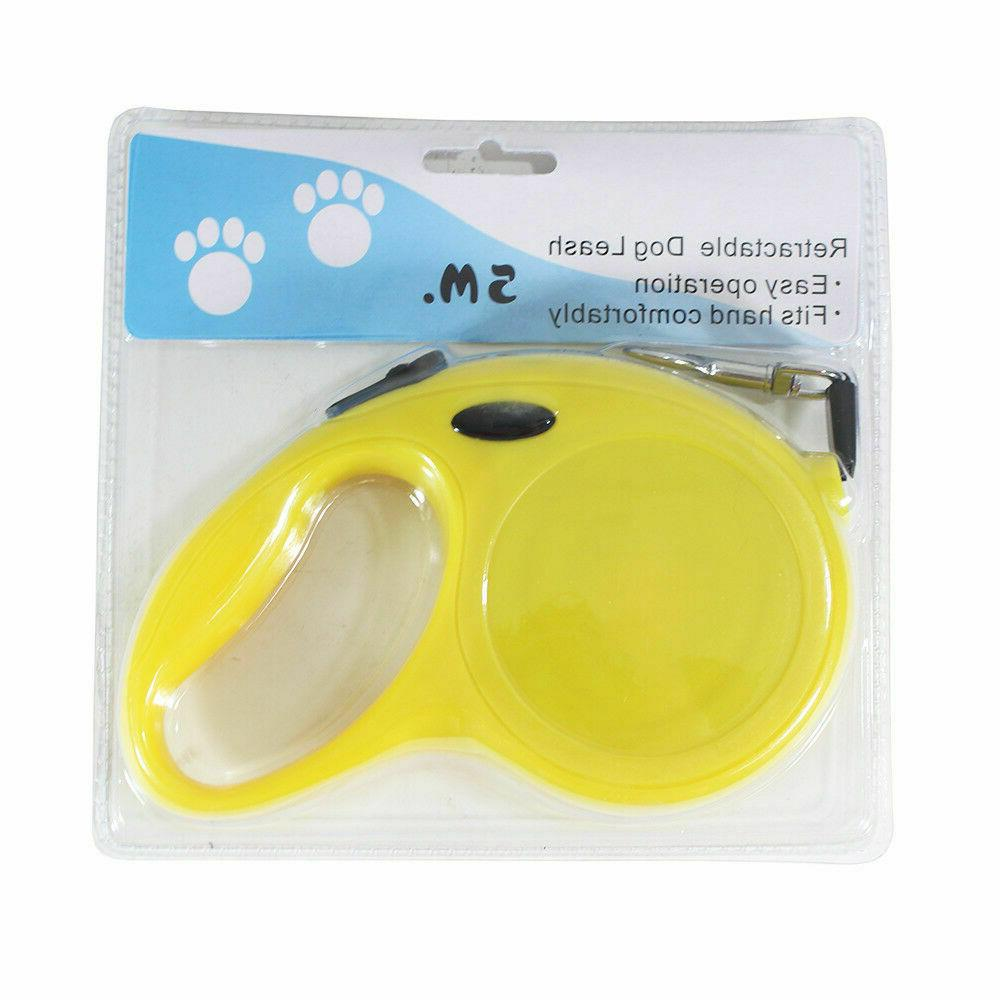 automatic retractable dog leash pet collar 16ft