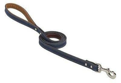 boat shoe style deck leather dog leash