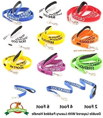 CAUTION Dog Collars Coded Accident Prevention Leash