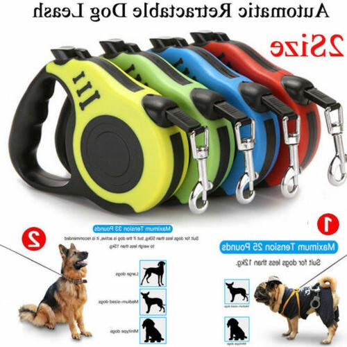 16ft Automatic Retractable Dog Leash Pet Collar Automatic Wa