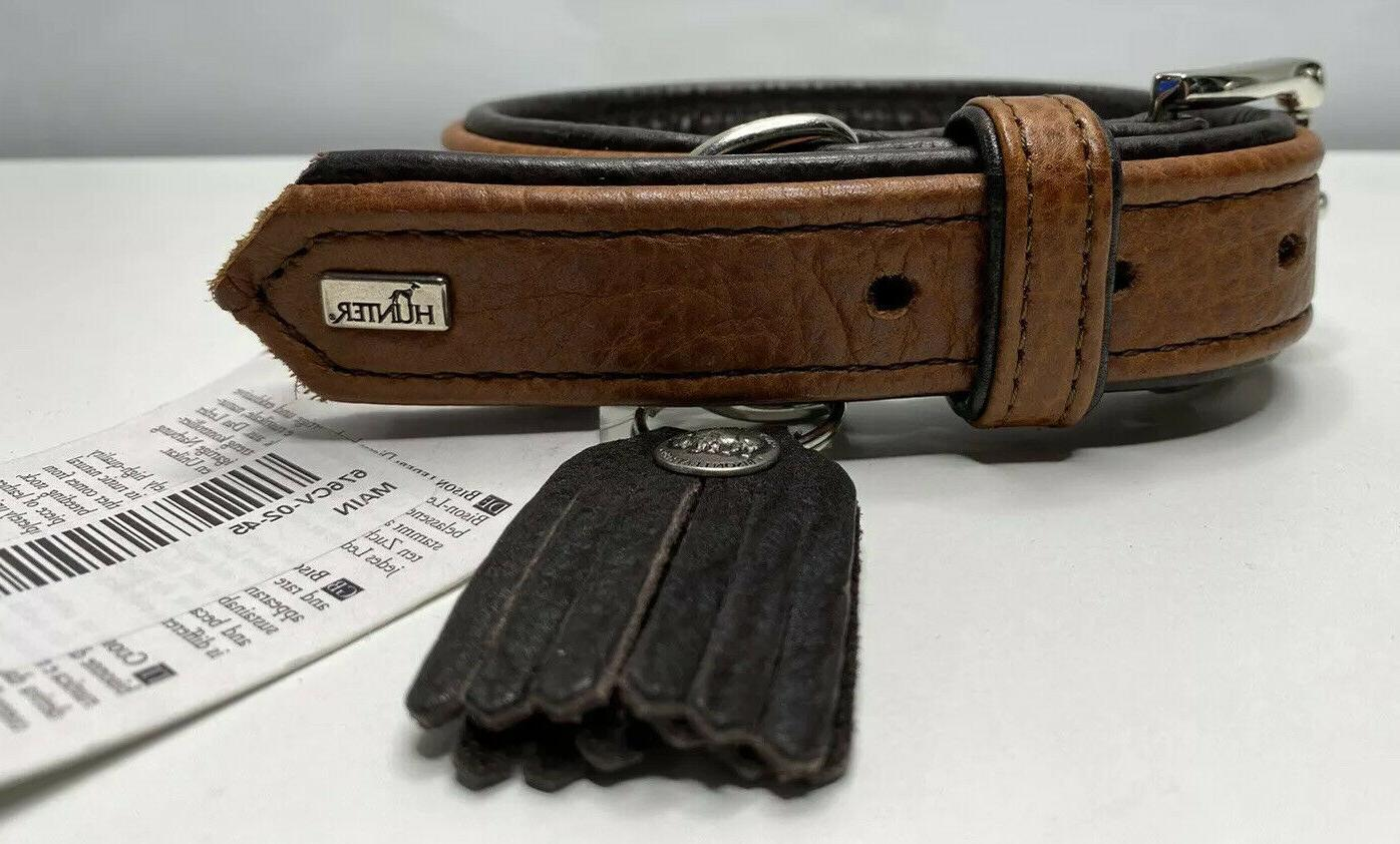 Hunter Cody Collar Bison Leather Buckle Made Germany Large