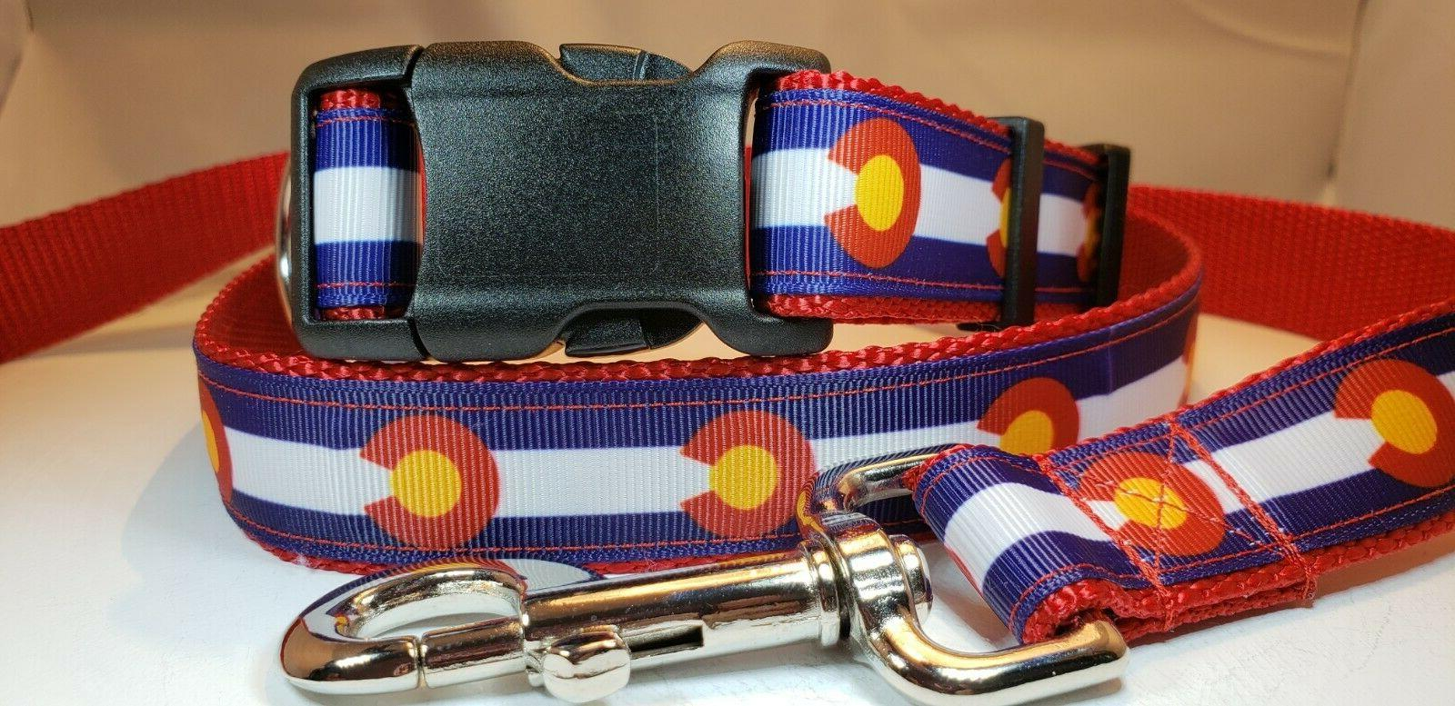 colorado flag dog leash 4 length