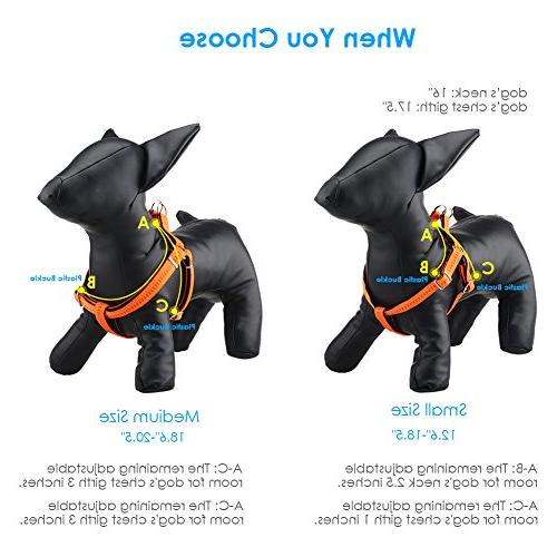 URPOWER Dog Dog Heavy & Dog Anti-Twist Harness for Small & Large Dogs Perfect for Walking