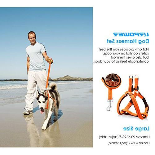 URPOWER Harness Dog Leash Anti-Twist Dog for Large Perfect for Walking Running