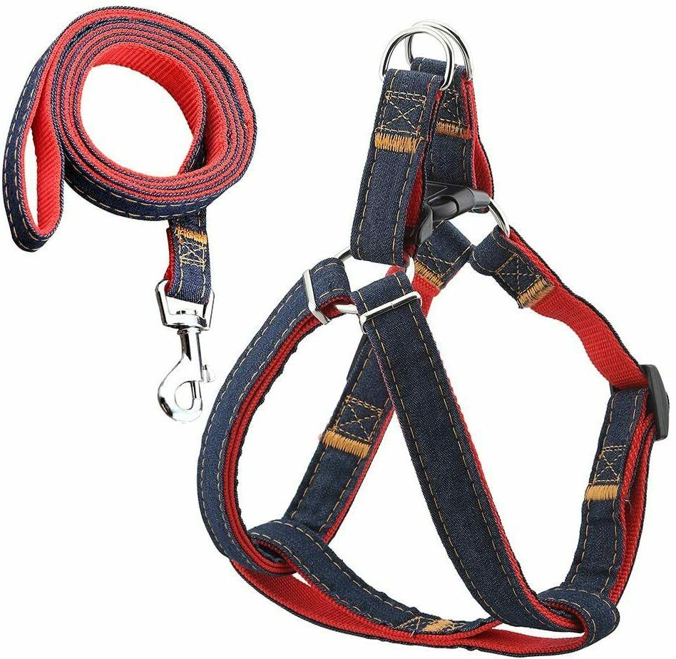 dog leash harness adjustable and heavy duty