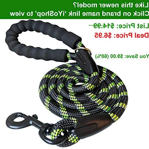 iYoShop Leash Training - Inch Thick Feet Long - Quality Nylon and Weight Pet Lead for Medium