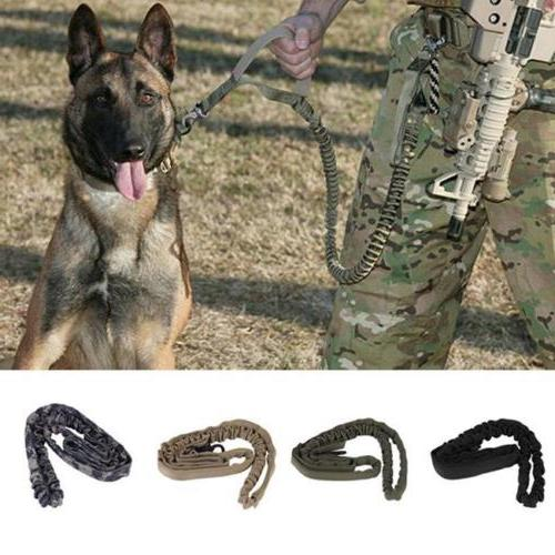 dog leash police tactical training elastic bungee