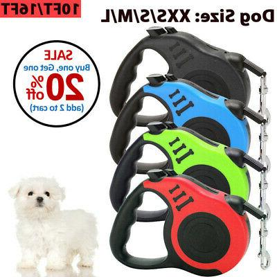 dog leash retractable walking collar for small