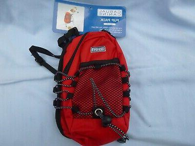 DOG/Pet PUP PACK   by Casual Canine  size Small  NWT  red