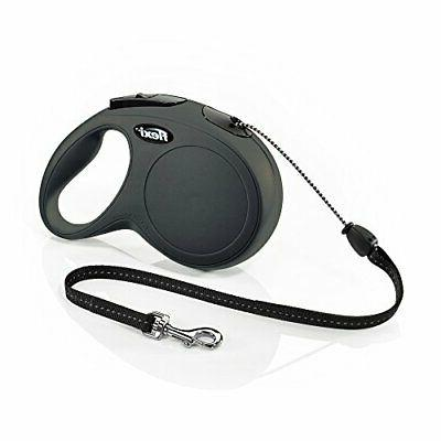 Flexi New Classic Retractable Dog Leash , 26 ft, Medium, Bla