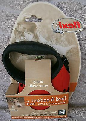 FLEXI FREEDOM 16 FEET RETRACTABLE LEASH FOR MEDIUM DOGS UP T