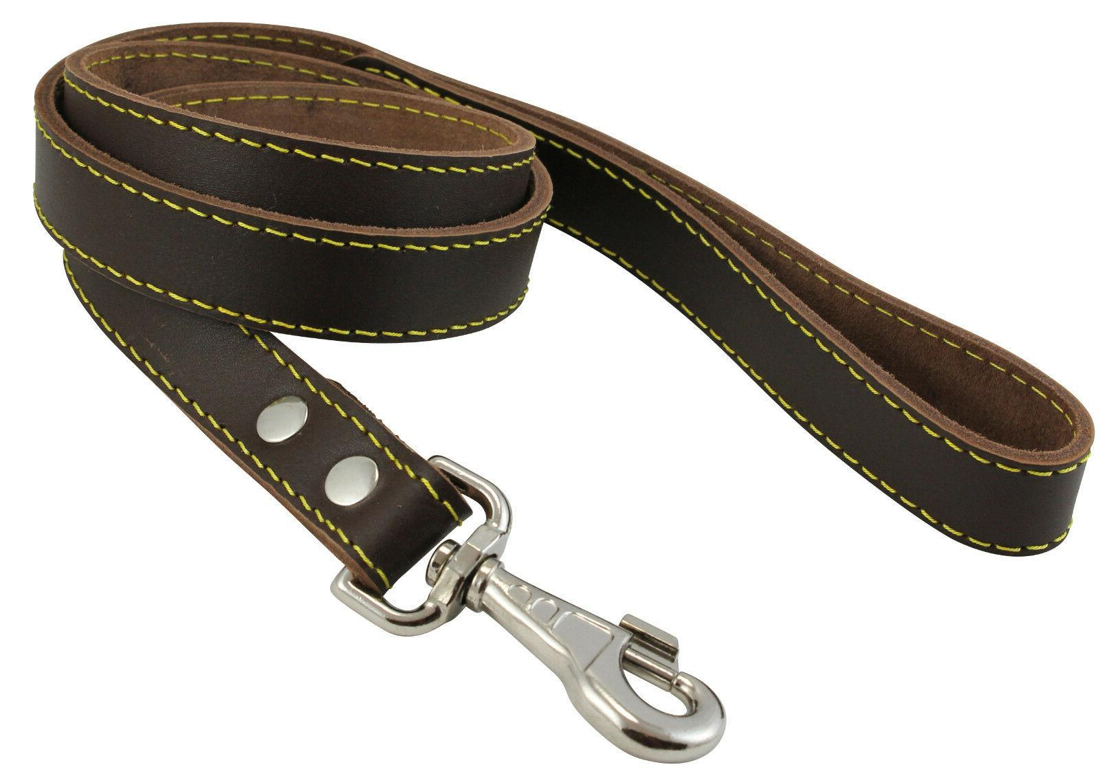Genuine Thick Leather Dog Leash 4' wide, for