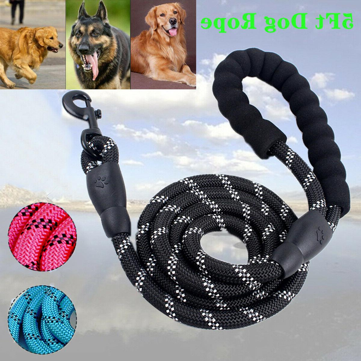 Dog Training Duty Nylon Rope with Handle for Large Dogs