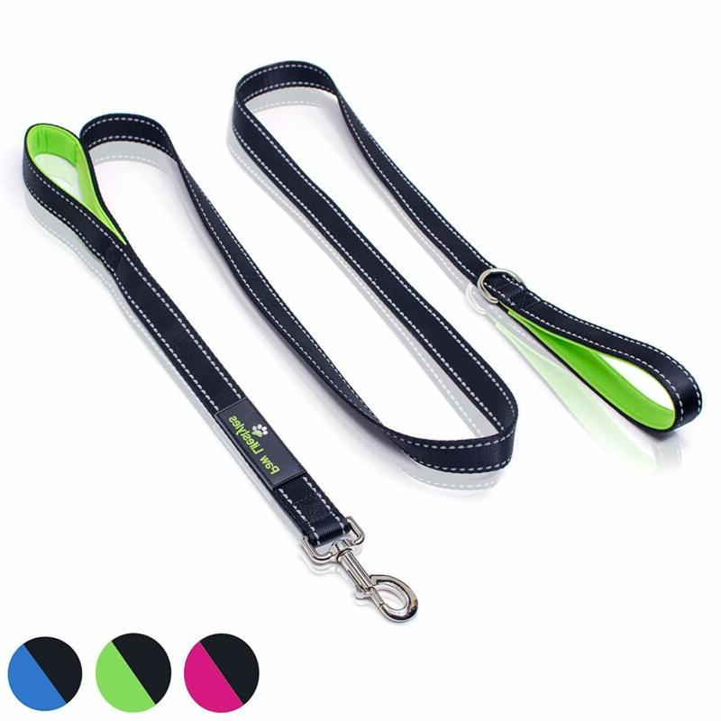 Paw Lifestyles Heavy Duty Dog Leash - 2 Handles - Padded Tra