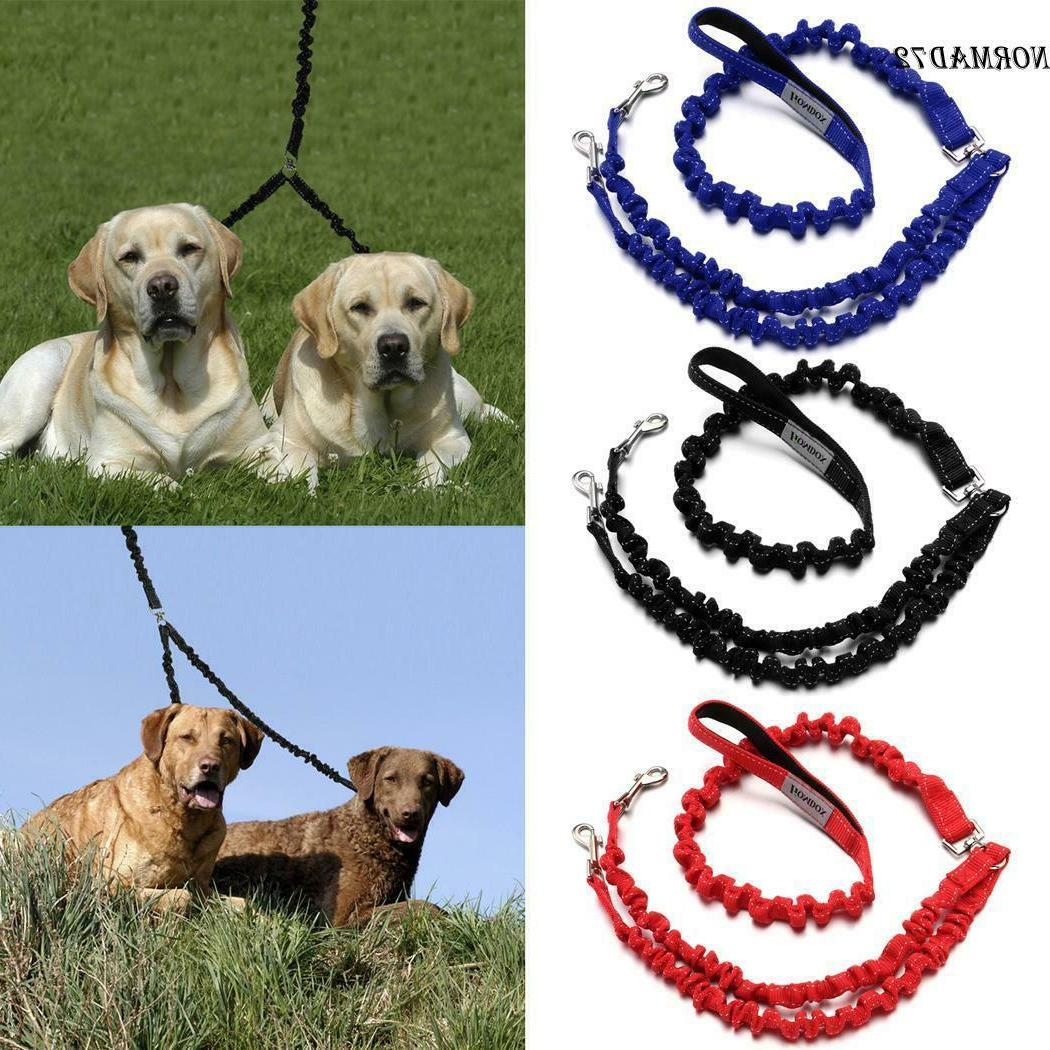 large small dual double dog leash no
