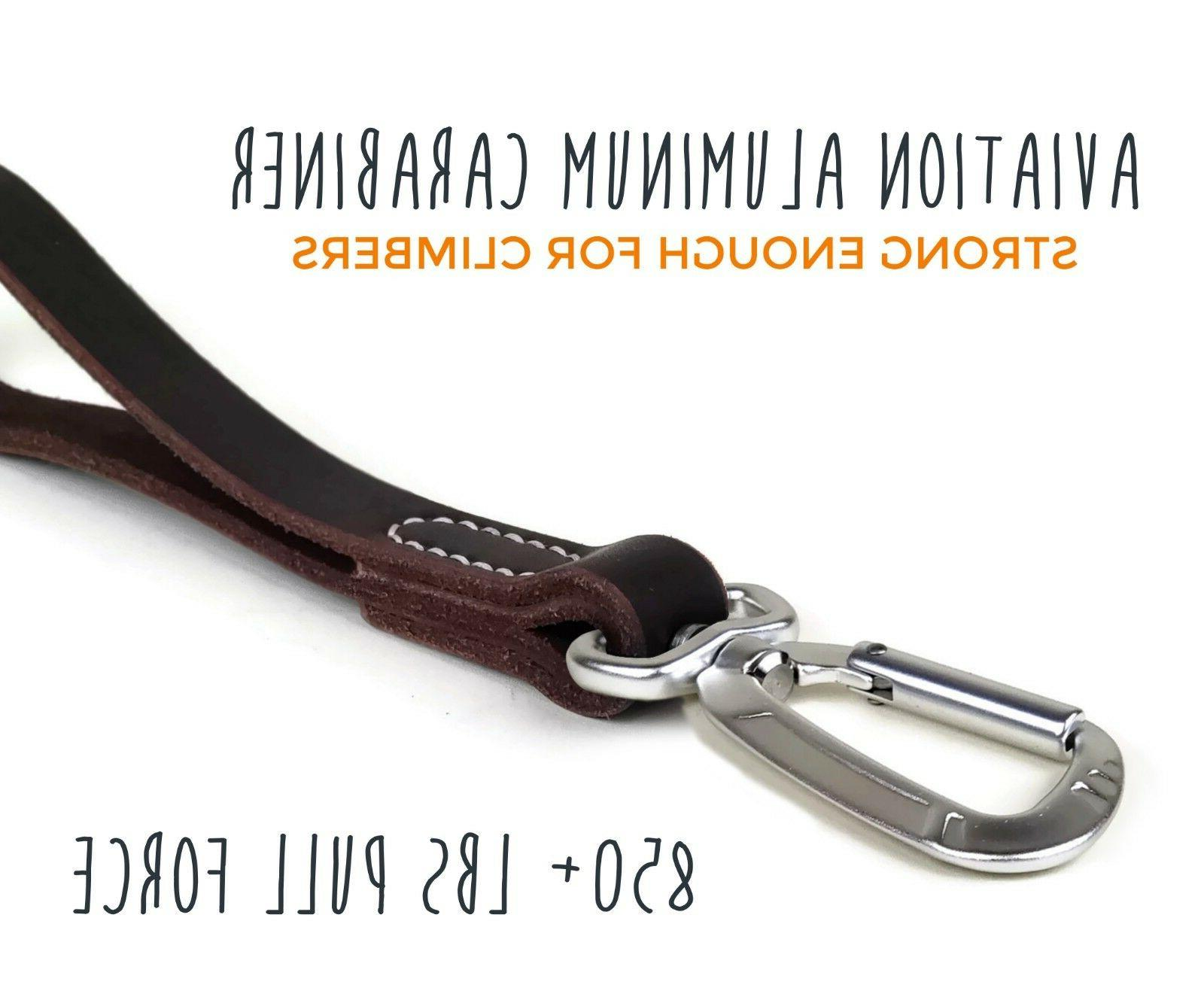 Leather Tab, Carabiner Clip