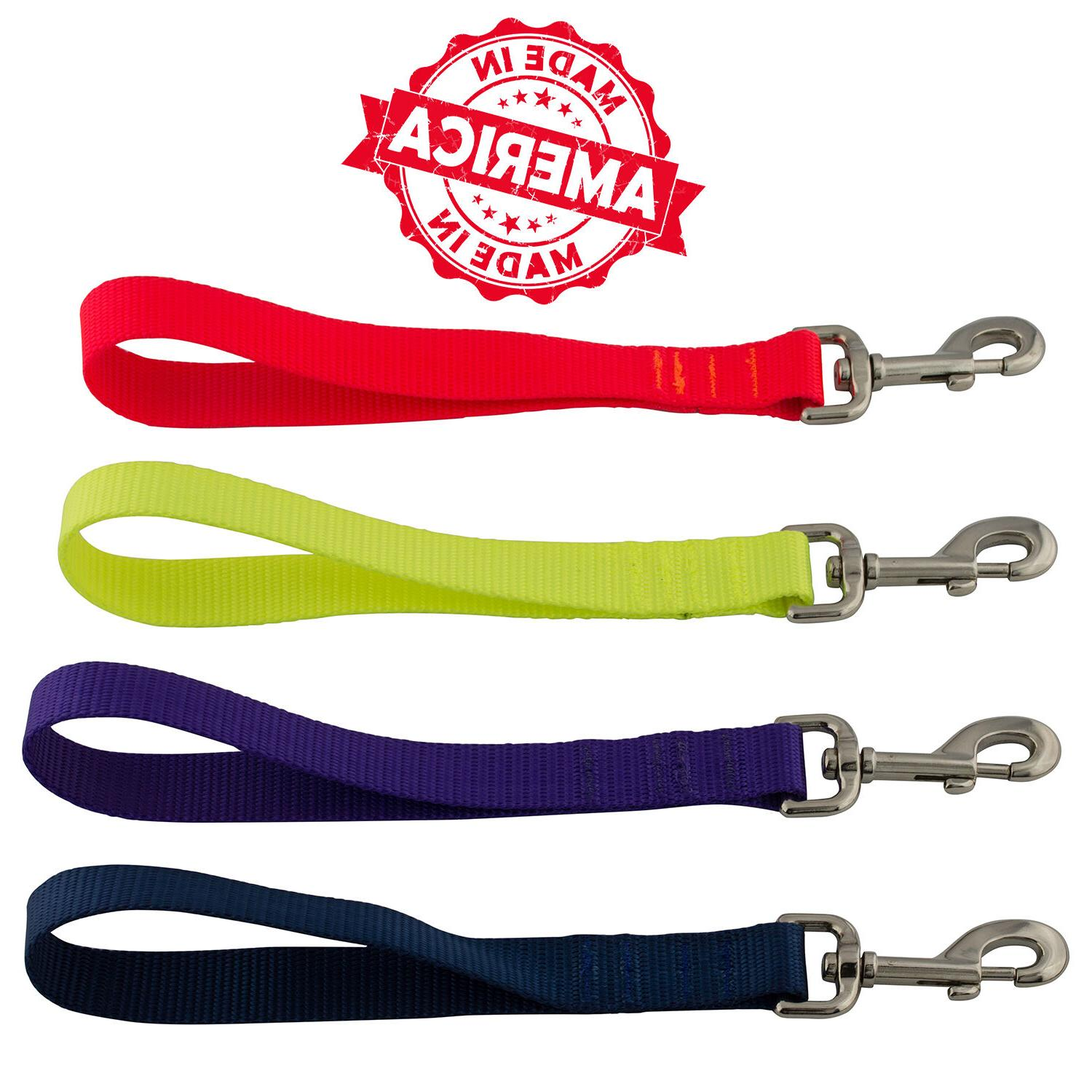 "Nylon Dog Leash Made & 24"" Black & 25 Colors"