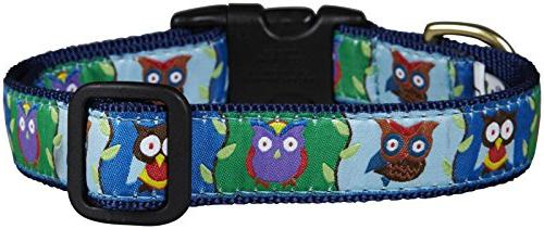 owl dog collar wide pet