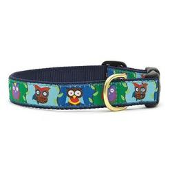 "Up Country Owl 1"" Wide Dog Collar - 2xl"
