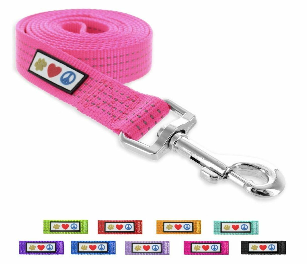 Pet Reflective Soft Puppy / Dog Leash 6 ft by Pawtitas
