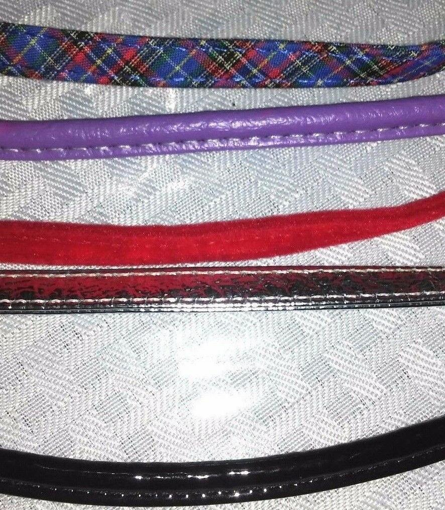 PLEATHER and VELVET LEASH, DOG, ASSORTED