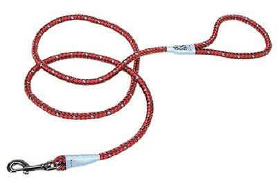 reflective braided rope snap dog lead leash
