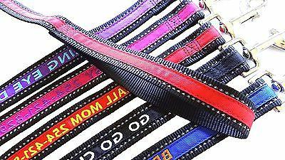 reflective personalized embroidered dog leash extra durable