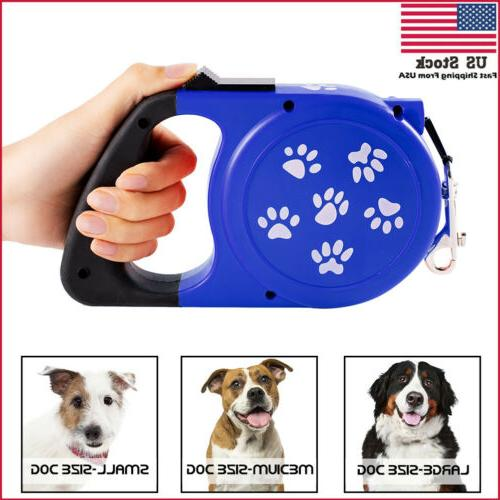 retractable automatic dog leash 26ft walking lead