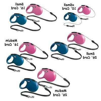 Retractable Dog Leads New Classic Cord - Pink or