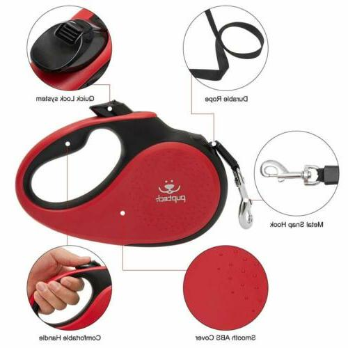 Retractable Dog Leash. long, up to lbs Heavy Duty RED